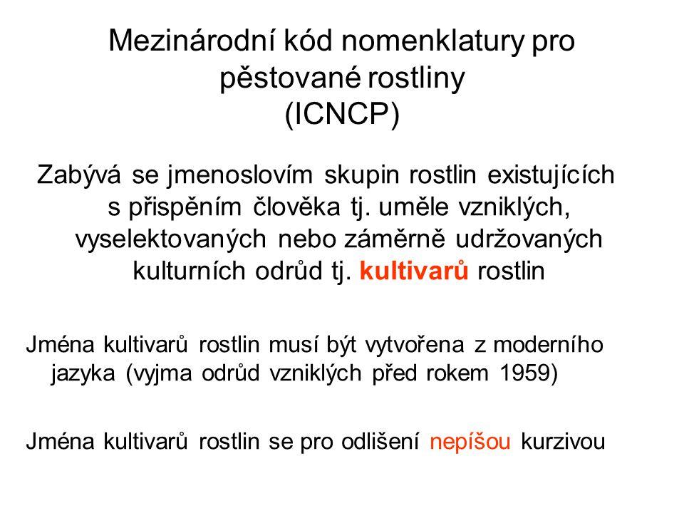 Mezinárodní kód nomenklatury pro pěstované rostliny (ICNCP)