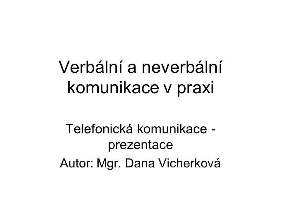 Verbální a neverbální komunikace v praxi