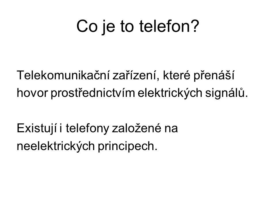 Co je to telefon