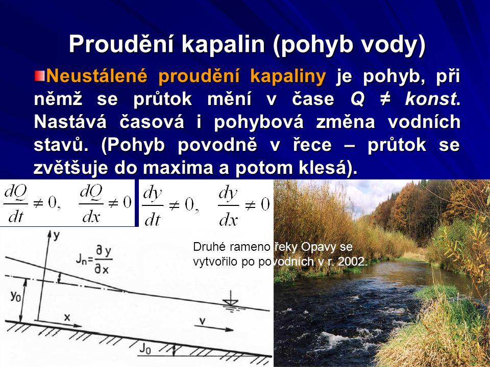 Proudění kapalin (pohyb vody)