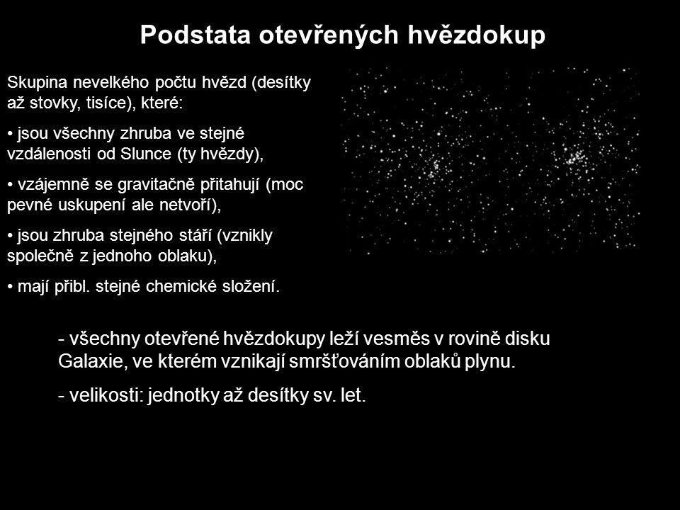 Podstata otevřených hvězdokup