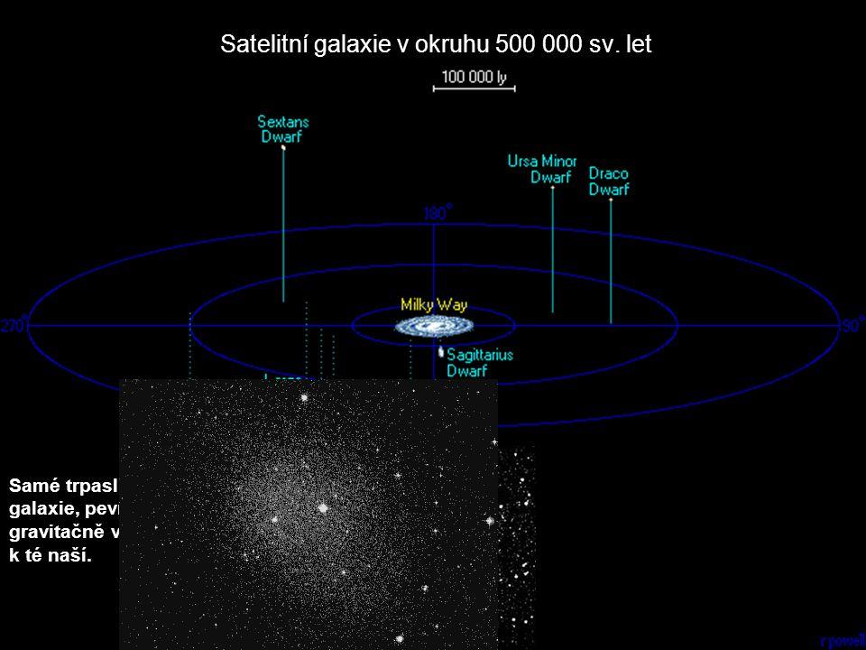 Satelitní galaxie v okruhu 500 000 sv. let