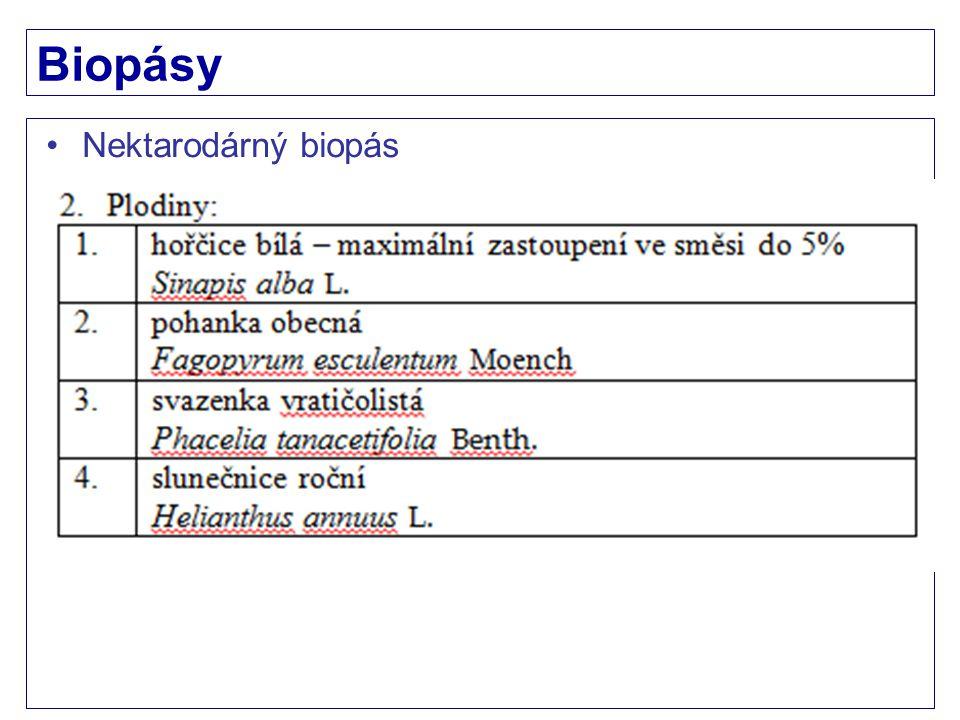 Biopásy Nektarodárný biopás