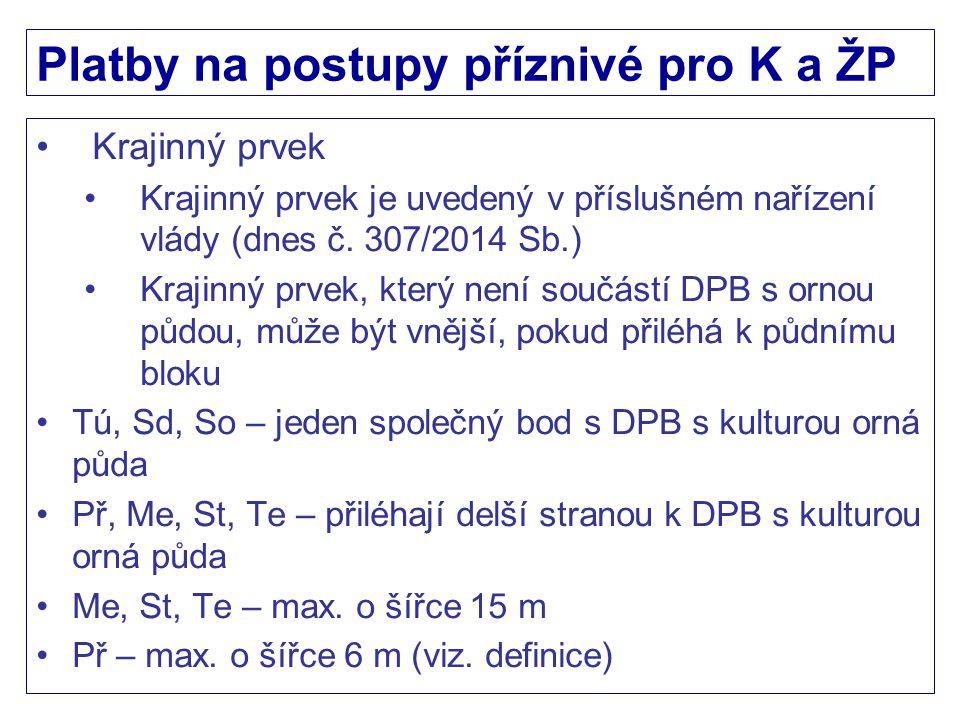 Platby na postupy příznivé pro K a ŽP