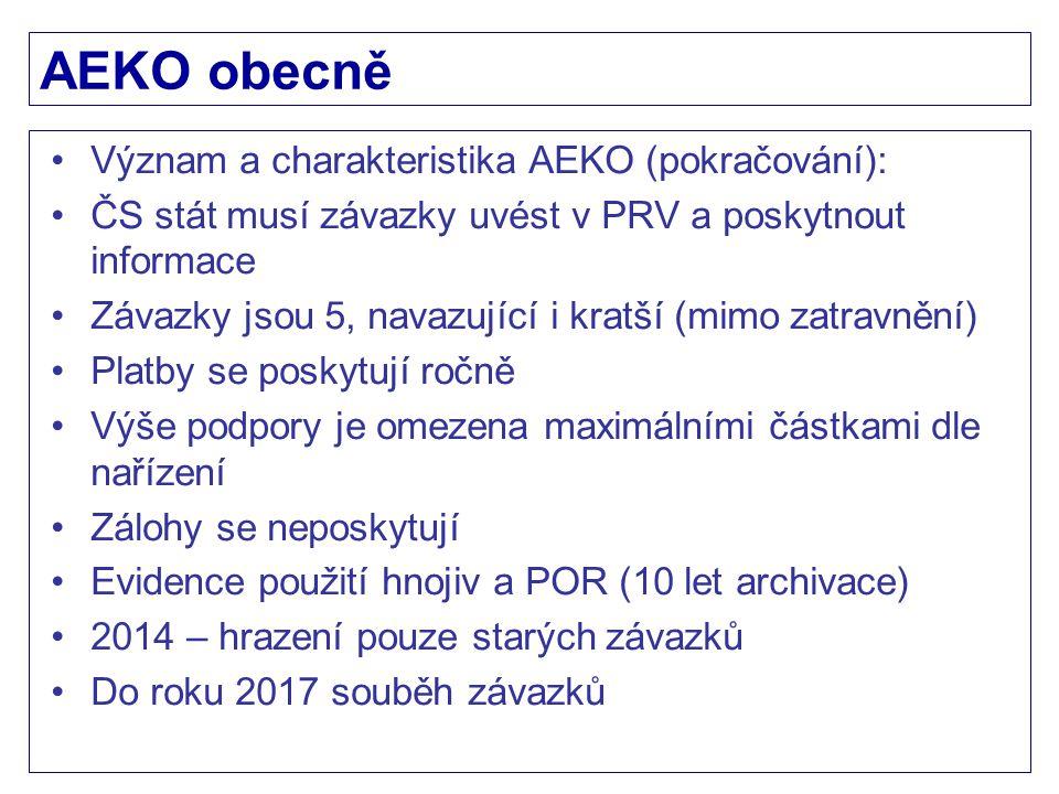 AEKO obecně Význam a charakteristika AEKO (pokračování):
