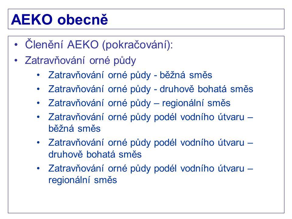 AEKO obecně Členění AEKO (pokračování): Zatravňování orné půdy