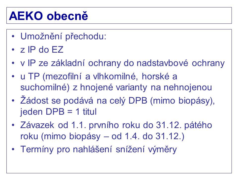 AEKO obecně Umožnění přechodu: z IP do EZ