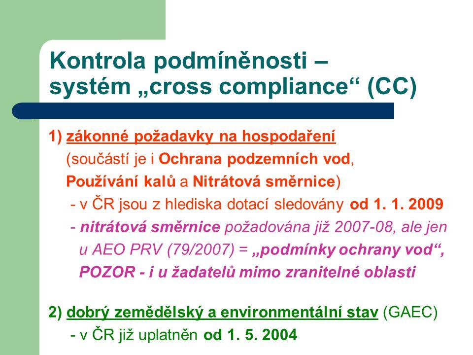 """Kontrola podmíněnosti – systém """"cross compliance (CC)"""