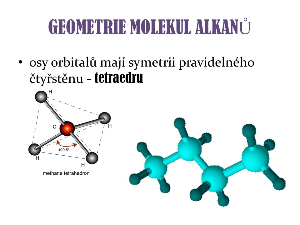 GEOMETRIE MOLEKUL ALKANŮ