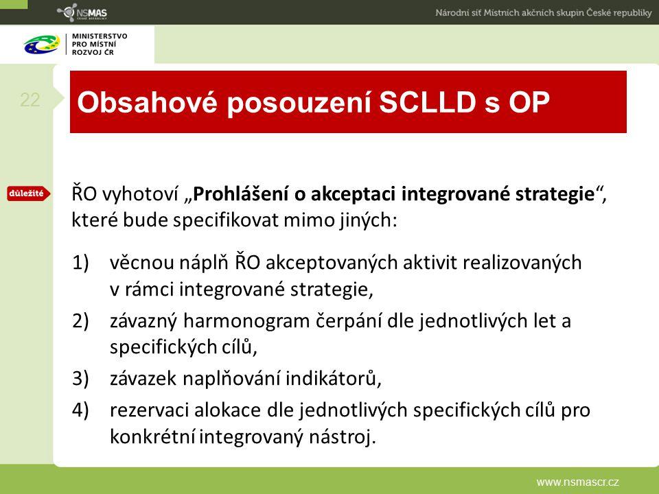 Obsahové posouzení SCLLD s OP