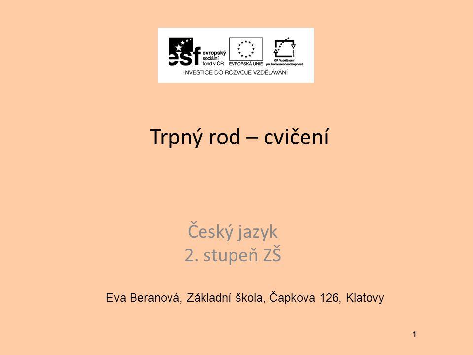Eva Beranová, Základní škola, Čapkova 126, Klatovy