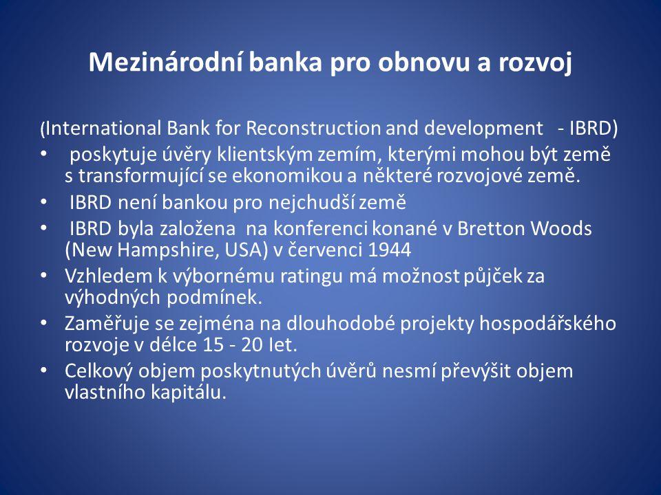 Mezinárodní banka pro obnovu a rozvoj