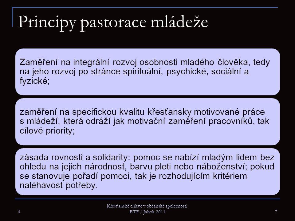 Principy pastorace mládeže