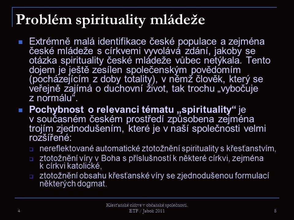 Problém spirituality mládeže