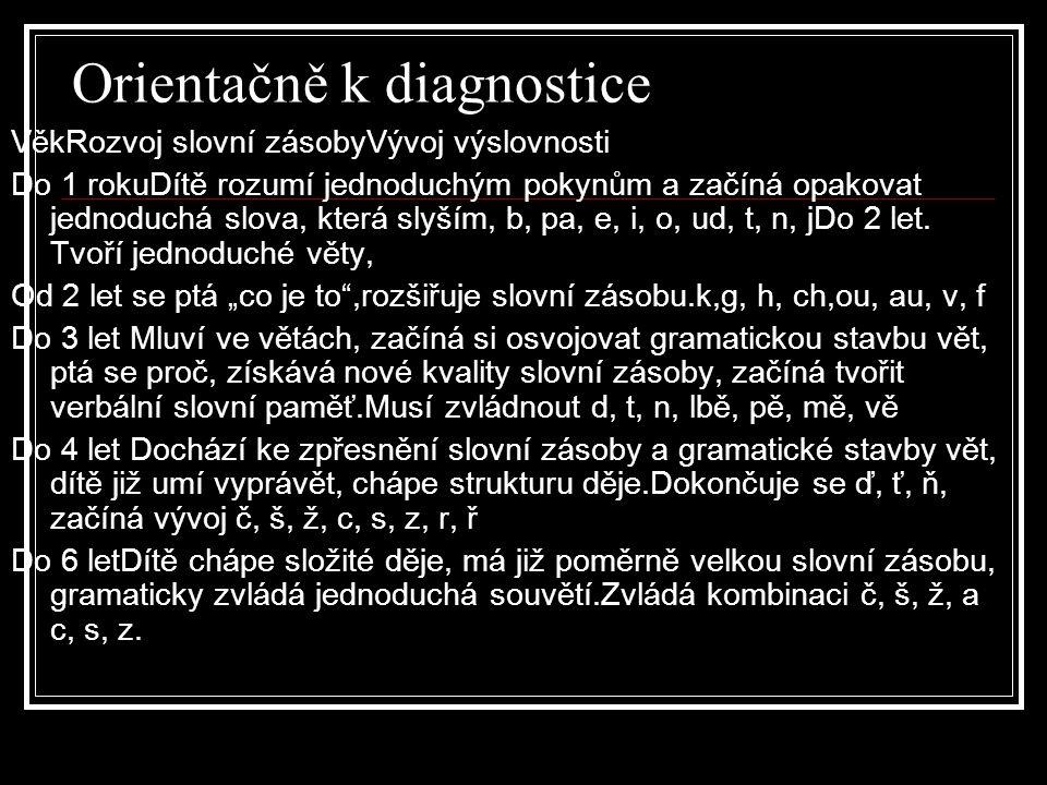 Orientačně k diagnostice