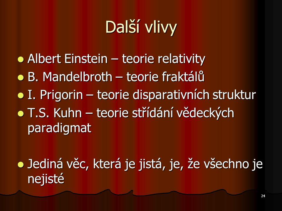 Další vlivy Albert Einstein – teorie relativity