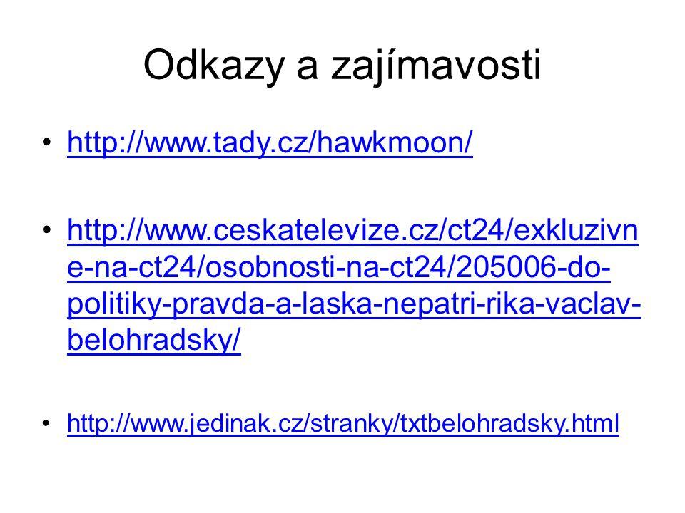 Odkazy a zajímavosti http://www.tady.cz/hawkmoon/