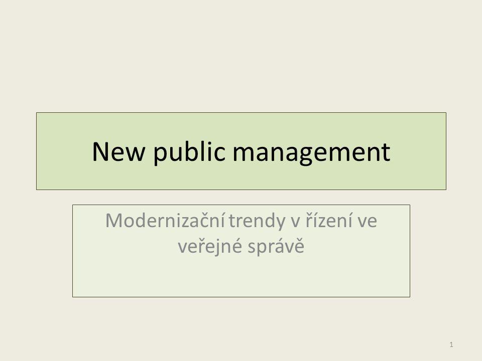 Modernizační trendy v řízení ve veřejné správě