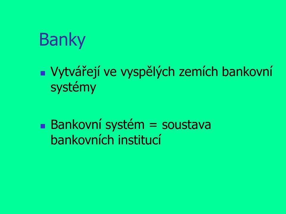 Banky Vytvářejí ve vyspělých zemích bankovní systémy