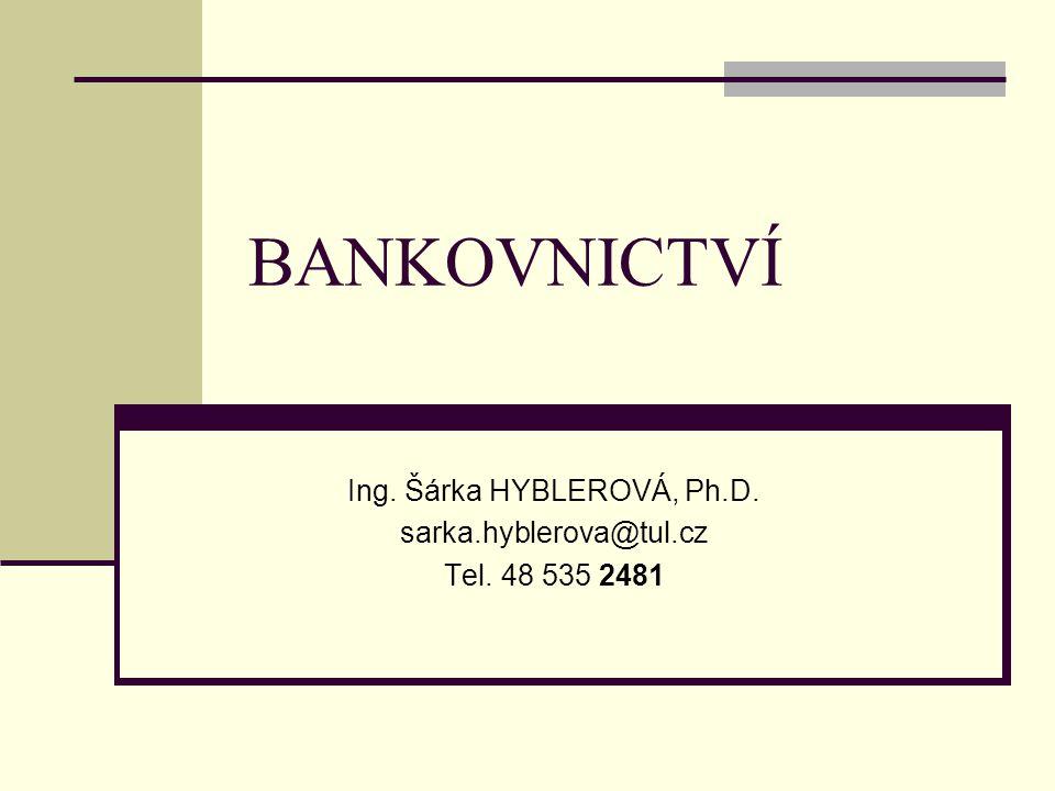 Ing. Šárka HYBLEROVÁ, Ph.D. sarka.hyblerova@tul.cz Tel. 48 535 2481