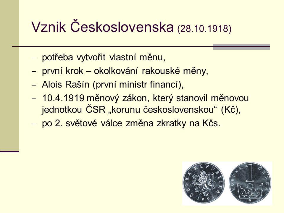 Vznik Československa (28.10.1918)