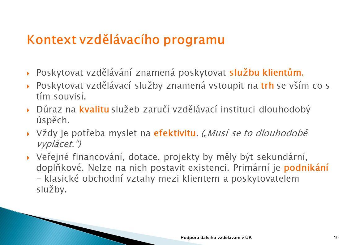 Kontext vzdělávacího programu