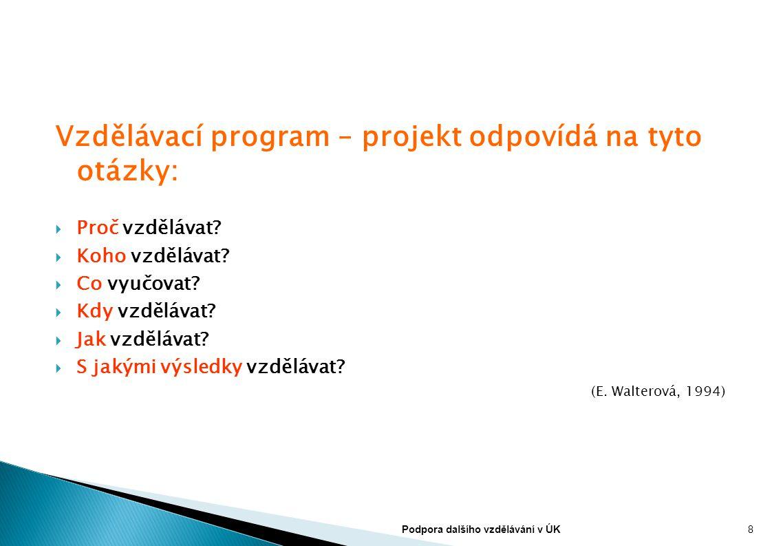 Vzdělávací program – projekt odpovídá na tyto otázky: