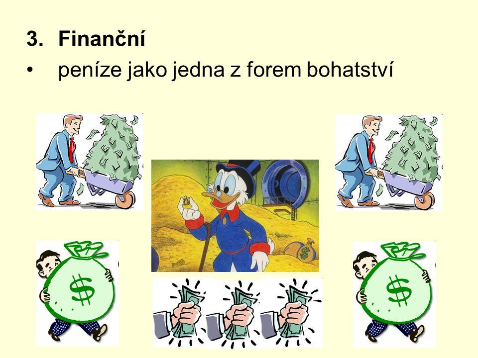 Finanční peníze jako jedna z forem bohatství