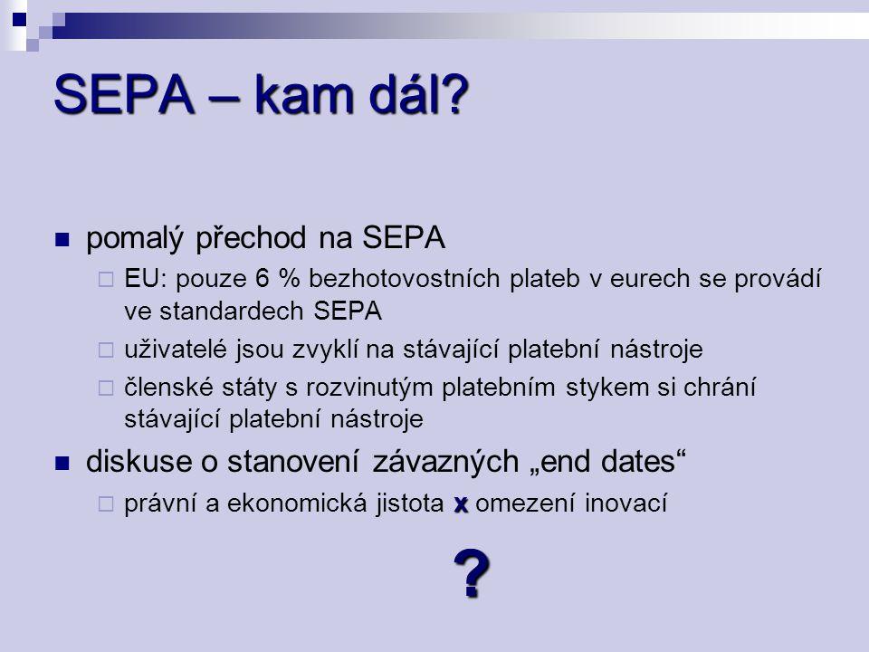 SEPA – kam dál pomalý přechod na SEPA