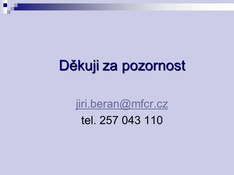 Děkuji za pozornost jiri.beran@mfcr.cz tel. 257 043 110