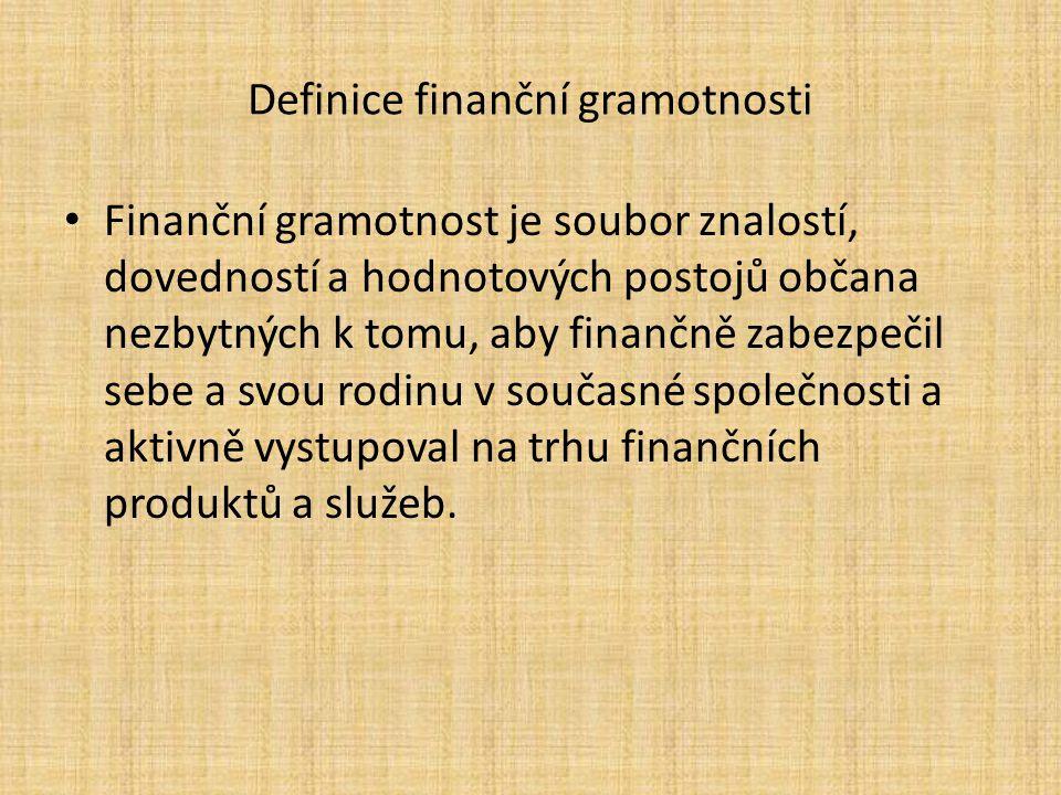Definice finanční gramotnosti