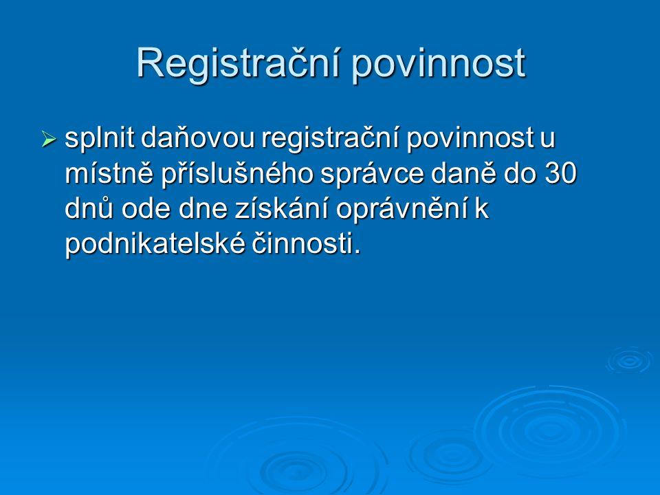 Registrační povinnost