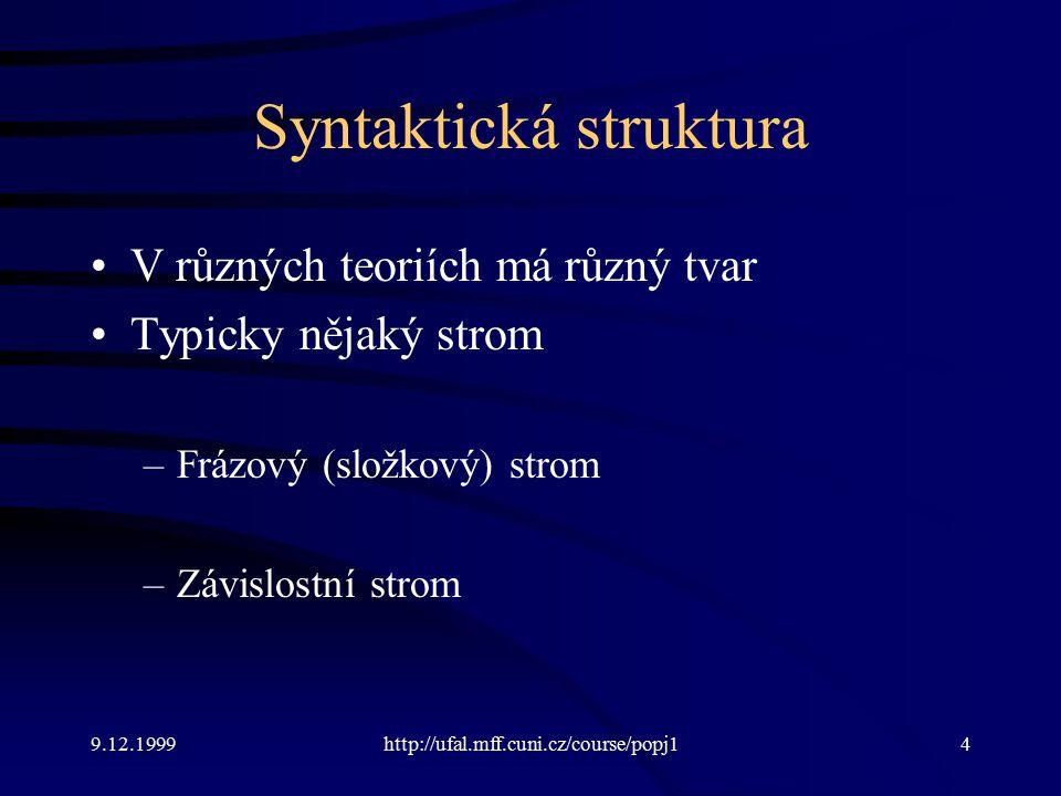 Syntaktická struktura