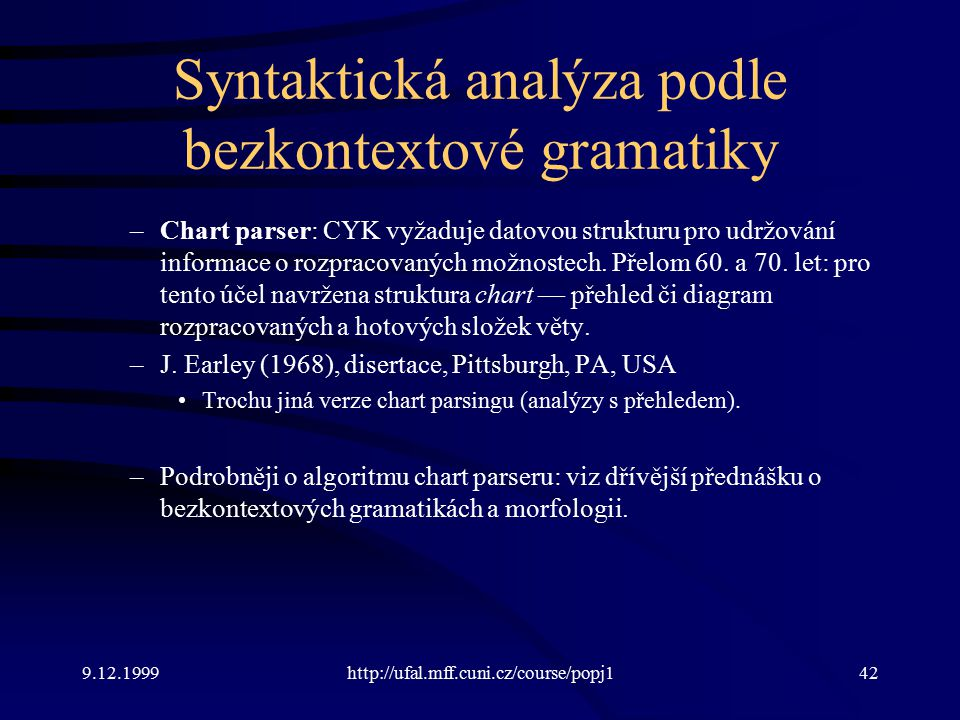 Syntaktická analýza podle bezkontextové gramatiky