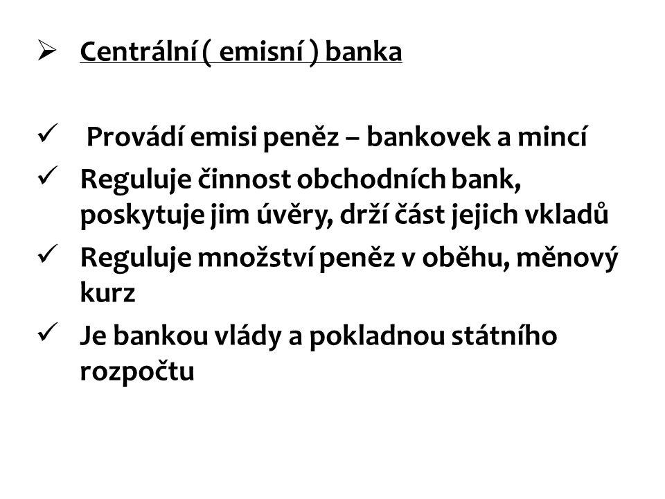 Centrální ( emisní ) banka