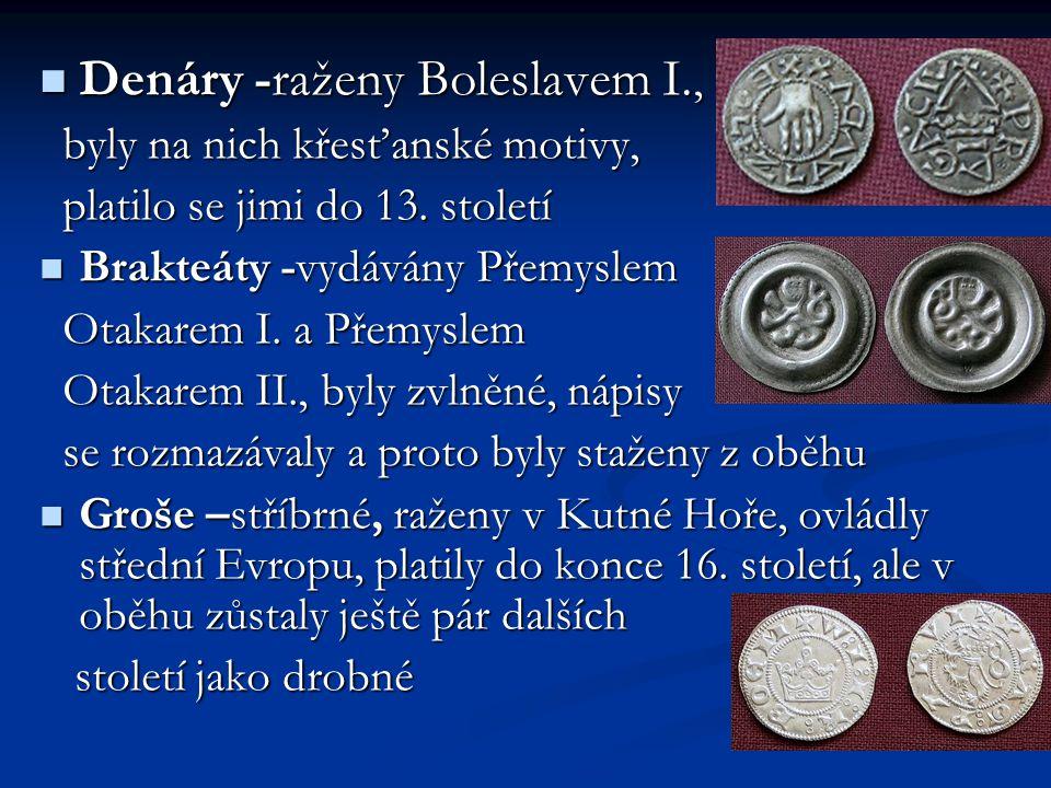Denáry -raženy Boleslavem I.,
