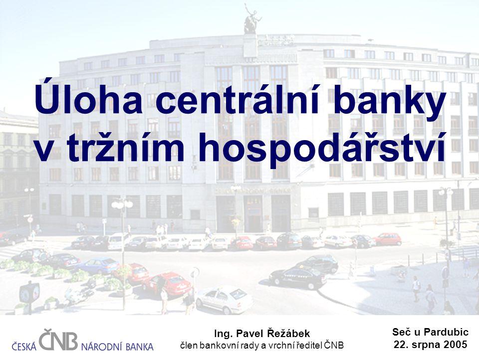 Úloha centrální banky v tržním hospodářství