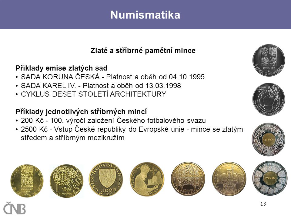 Zlaté a stříbrné pamětní mince