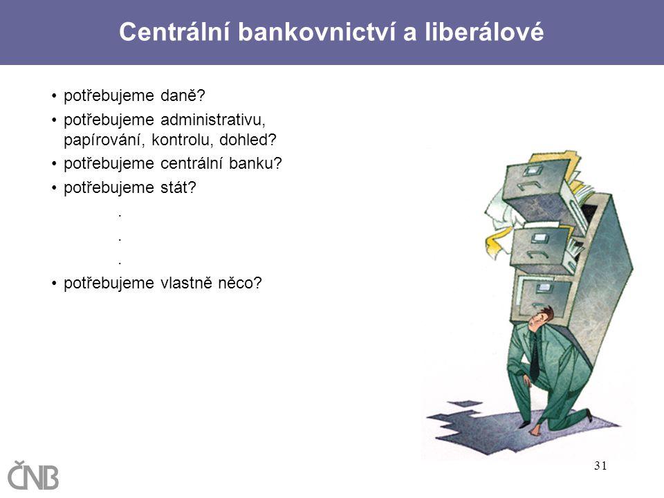 Centrální bankovnictví a liberálové