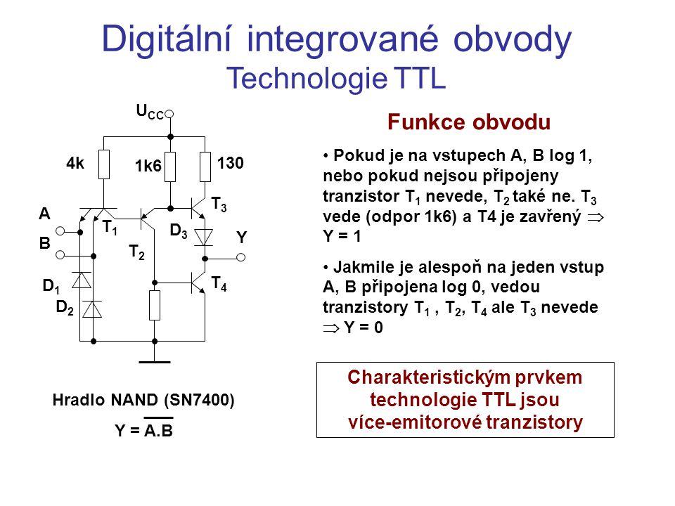 Digitální integrované obvody Technologie TTL