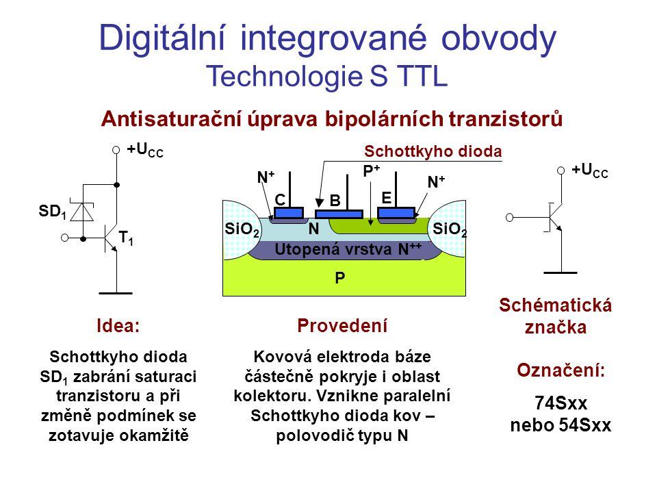 Antisaturační úprava bipolárních tranzistorů