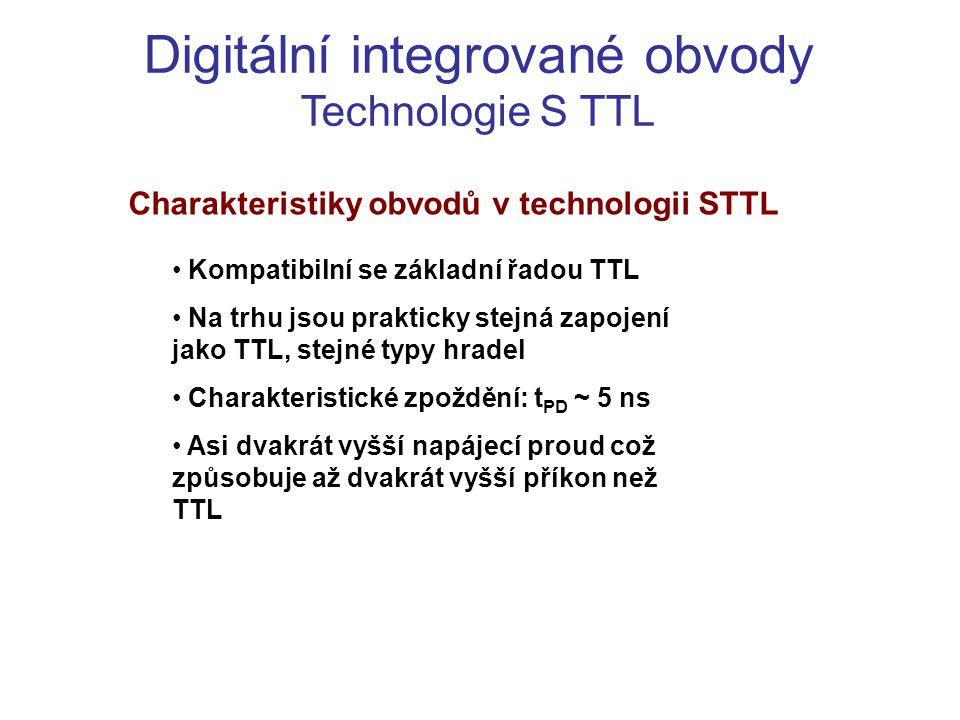 Charakteristiky obvodů v technologii STTL