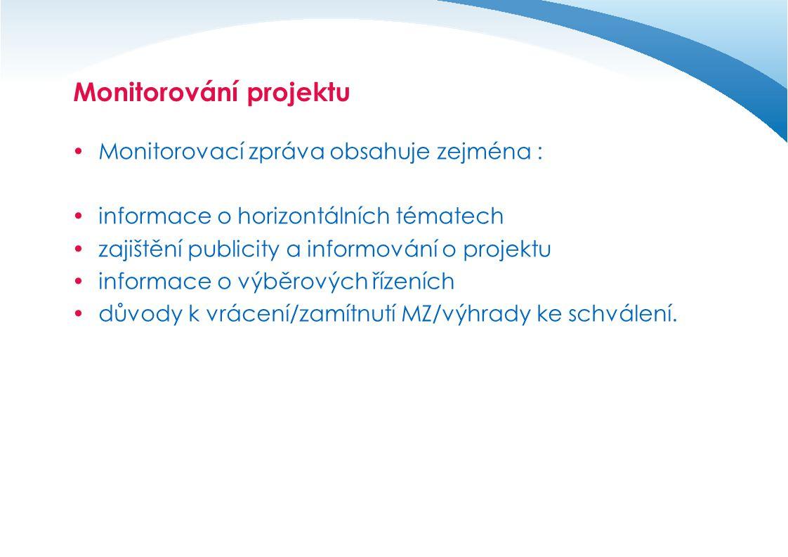 Monitorování projektu