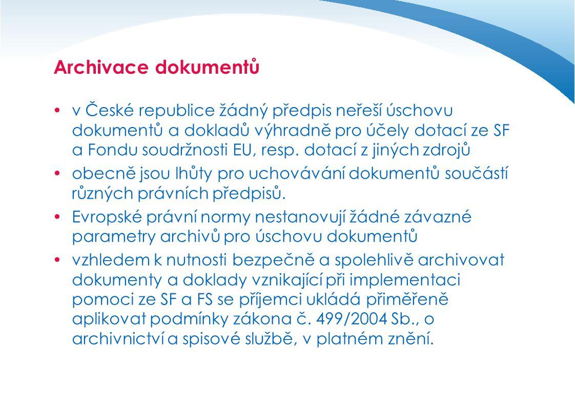 Archivace dokumentů