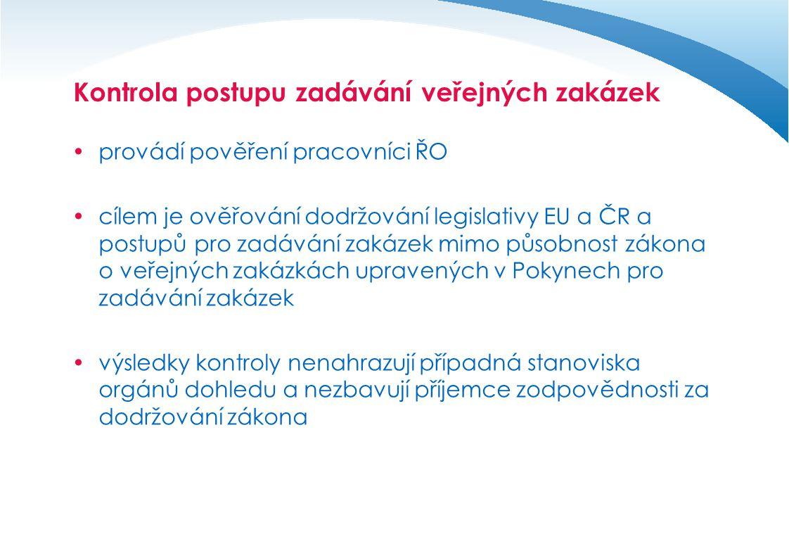 Kontrola postupu zadávání veřejných zakázek