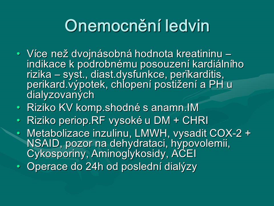 Onemocnění ledvin