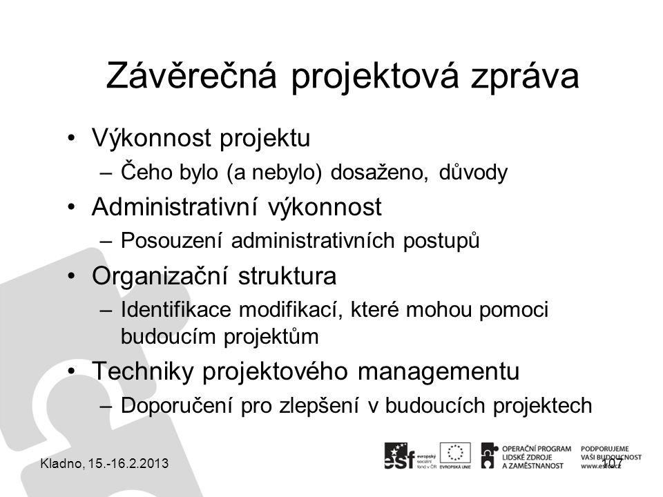 Závěrečná projektová zpráva