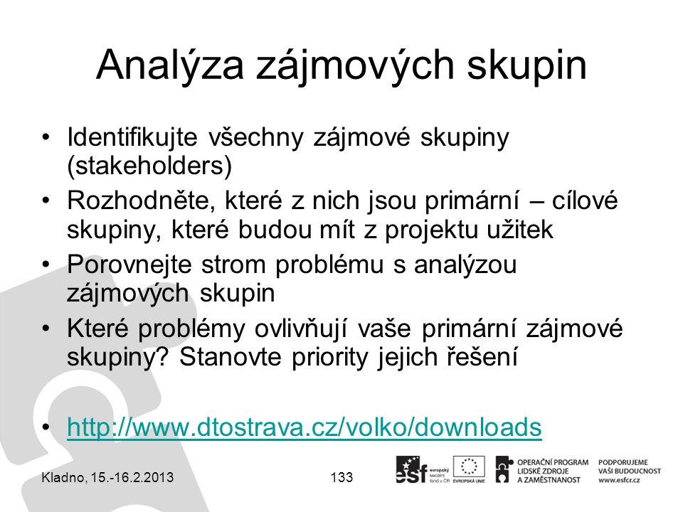 Analýza zájmových skupin