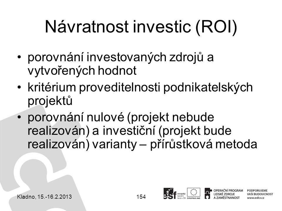 Návratnost investic (ROI)