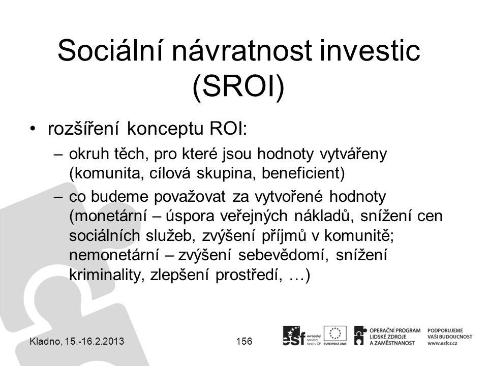 Sociální návratnost investic (SROI)